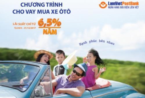LienVietPostBank ưu đãi lãi suất cho khách hàng vay mua ô tô