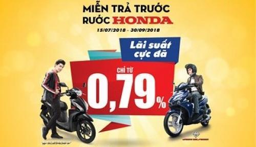 Vay mua xe máy tại HD SAISON lãi suất ưu đãi