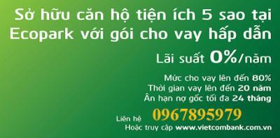 vietcombank cho vay mua can ho ecopark