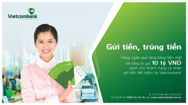 Vietcombank gửi tiền trúng tiền